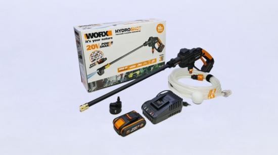 Worx Hydroshot 20v 22 Bar 120l/h 2ah Bat & Charger