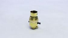 Lampholder Brass + Switch 10mm