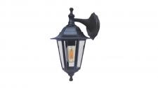Lantern 6 Pnl Down 60w Black