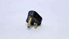 Plugtop 16A Rubber Black