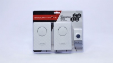 Door Chime Securitymate White With 2x Receivers