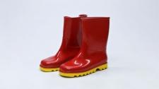 Gumboot Kids Neptune Red & Yellow # 10