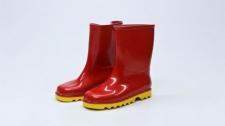 Gumboot Kids Neptune Red & Yellow # 1