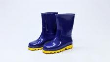 Gumboot Kids Neptune Blue & Yellow # 1