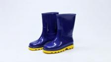 Gumboot Kids Neptune Blue & Yellow # 10
