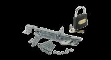 Padbolt 100mm ZP + Steel Padlock 38mm