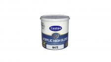 Exc Acrylic High Gloss W/B Enamel White 1l