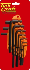 Allen Key Set Tork Craft Metric 1.5-10mm 10 Pc