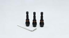 Bit Set Adaptor Drill Tork Craft 3pc 3.4.5mm 1/4