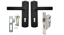 Lockset 3L Castello Matt Black Samson