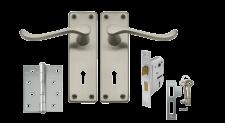Lockset 3L Victorian Straight B/B Samson